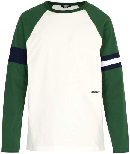 Calvin Klein Raglan Sleeve Cotton Jersey T Shirt - Mens - White