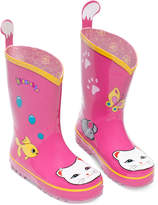 Kidorable Little Girls' Lucky Cat Rain Boots