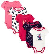 Juicy Couture Love Juicy Bodysuit Set - Pack of 5 (Baby Girls)