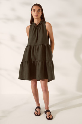 SABA SB Lila Linen Tiered Dress