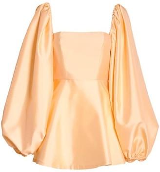 Wandering Duchesse Puff-Sleeve Mini Dress