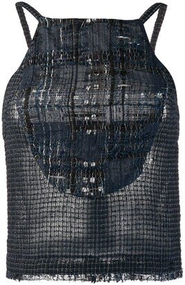 Chanel Pre Owned 2006's Knitted Checked Blouse
