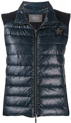 Lorena Antoniazzi Star Patch Padded Gillet