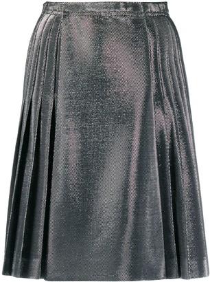 Ermanno Scervino Lurex pleated skirt