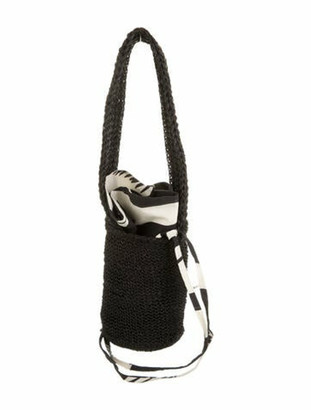 Johanna Ortiz Mini Straw Bag Black