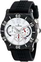 Le Château Men's 5440m_sil Sport Dinamica Chronograph Black Ion-Plated Rubber Band Watch