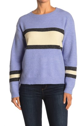 Lush Stripe Print Knit Sweater