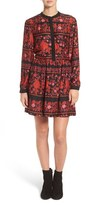 Cupcakes And Cashmere Women's Natalie Floral Print Shirtdress