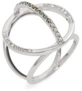 Judith Jack Women's Silver Sparkle Circle Ring