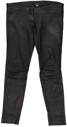 Jitrois Black Leather Trousers