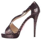Christian Louboutin Metallic Snakeskin Sandals