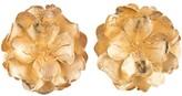 Natori Gold Brass Peony Earrings