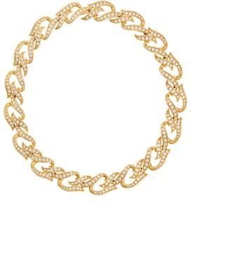 Susan Caplan Vintage 1980s Vintage Elizabeth Taylor Crystal Collar Necklace