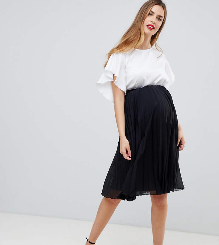 85a4dd3e829f9 Maternity Pleated Skirt - ShopStyle