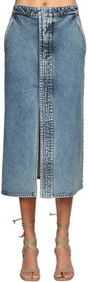 Stella McCartney Denim Midi Skirt W/ Slits