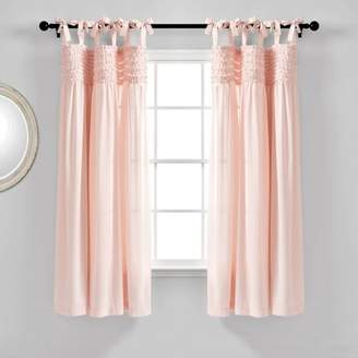 "Lush Decor Set of 2 40""x84"" Lydia Ruffle Window Curtain Panels"