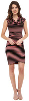 Nicole Miller Jolly Stripe Cowl Dress