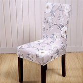 Yiwant Super Fit Stretch Removable Washable Short Dining Chair Cover Protector Seat Slipcover for Hotel,Dining Room,Ceremony,etc - 1 Pack, Style 1001-10