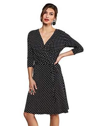 Yumi Jersey Spot Wrap Dress