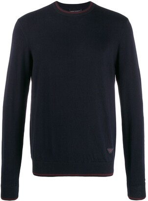 Emporio Armani Relaxed-Fit Two-Tone Jumper