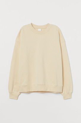 H&M Cotton Sweatshirt - Beige