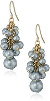 "Carolee West Side"" Cluster Pierced Drop Earrings"