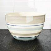 Crate & Barrel Dumont Stripe Large Bowl