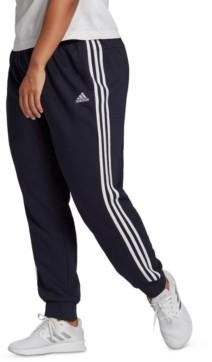 adidas Essentials Plus Size 3-Stripe Tapered Cuffed Pants