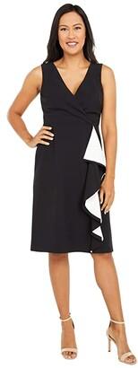 Lauren Ralph Lauren Lovina Sleeveless Day Dress (Black/Lauren White) Women's Dress