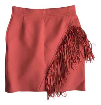 Maje Orange Polyester Skirts