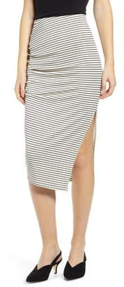 Leith Ruched Midi Skirt