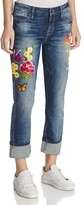 GUESS Patch Skinny Jeans in Blue Side Wash