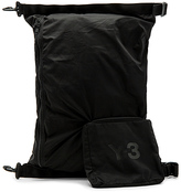 Yohji Yamamoto Packable Bag in Black.