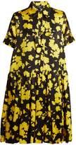 Rochas Floral-print silk-satin shirtdress