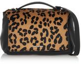 McQ Riot Mini Leopard-Print Calf Hair And Leather Shoulder Bag