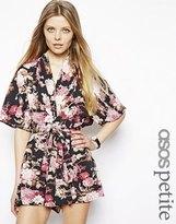 Asos Exclusive Floral Print Kimono Playsuit - Printed