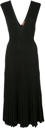 Altuzarra ribbed knit V-neck dress