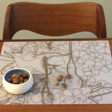 Modern-Twist Placemat Floral Brown