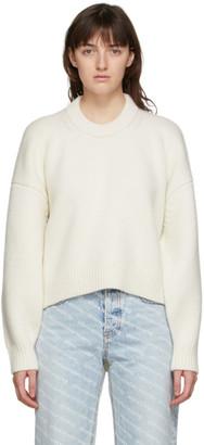 Alexander Wang Off-White Drape Crewneck Sweater