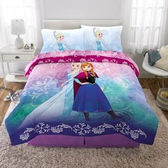 Disney Frozen Disney's Frozen Elsa & Anna Bed in a Bag Kids Bedding Set, Nordic Frost, w/ Reversible Comforter