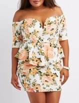 Charlotte Russe Plus Size Off-The-Shoulder Peplum Dress