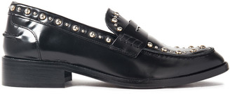 Maje Studded Leather Loafers