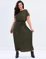 Jersey Cold Shoulder Maxi Dress