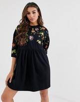 Asos Design DESIGN embroidered smock dress