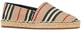 Burberry Women's Icon Stripe Espadrille Flats