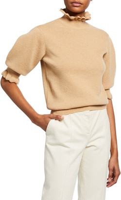 Chloé Scallop Wool-Blend Sweater