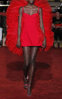 Christian Siriano Ruffle Back Mini Dress