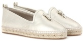 Loro Piana My Charms leather espadrilles