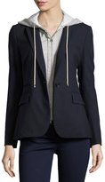 Veronica Beard Classic Crepe Jacket, Navy