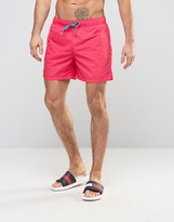 Tommy Hilfiger Solid Swim Shorts In Red